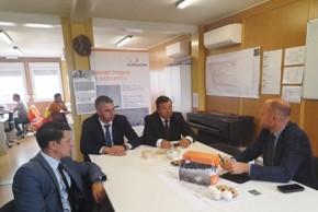 Фото: посещение компании ООО «ЭйчЭс Белакон», которая осуществляет строительство деревообрабатывающего завода «Свислочь»