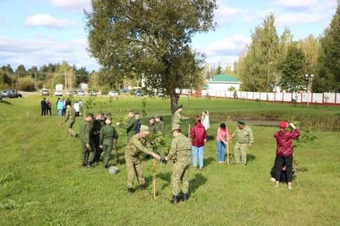 Акция по озеленению в Поставском районе
