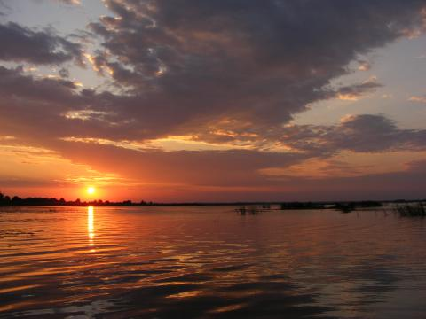 Sunset over Osveyskoye Lake