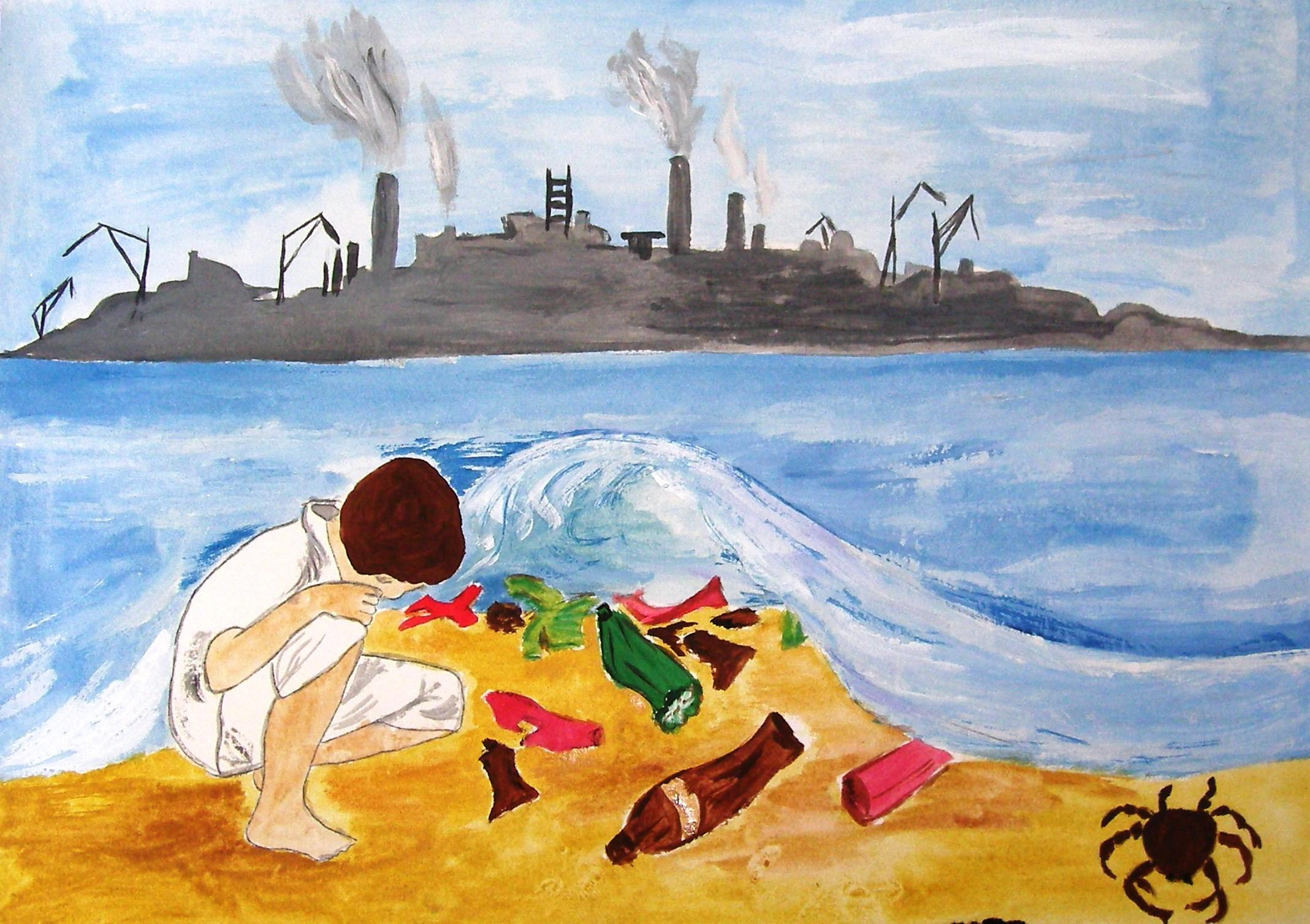 Рисунок на тему чем люди загрязняют природу 3